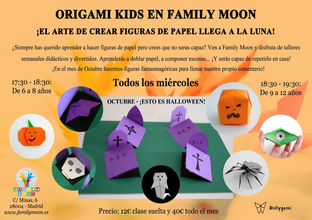 family moon halloween