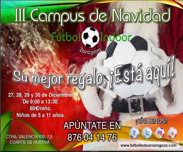 campus de navidad de futbol en zaragoza 2016