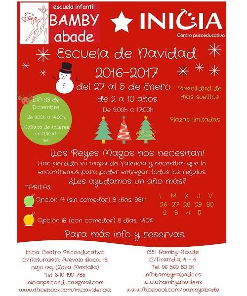 escuela de navidad en valencia 2016