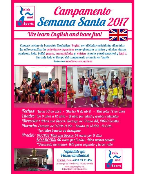 campamentos de semana santa 2017 INGLES SEVILLA