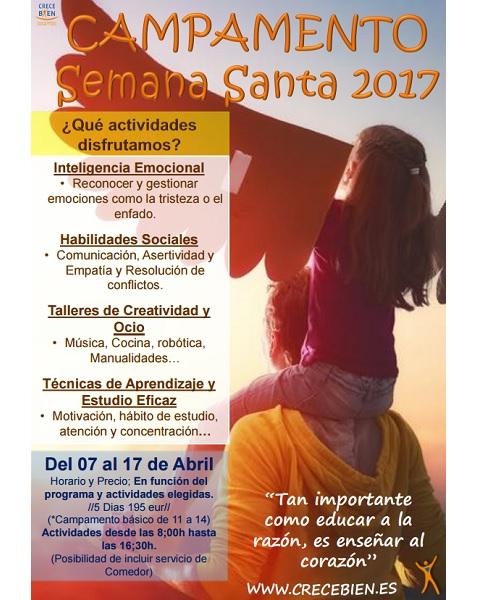 campamentos de semana santa 2017 INTELIGENCIA EMOCIONAL madrid