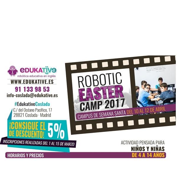 campamentos de semana santa 2017 robotica EDUKATIVE COSLADA madrid