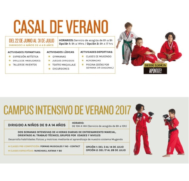 CASAL VERANO 2017 ARTES ARCIALES SANT GERVASI